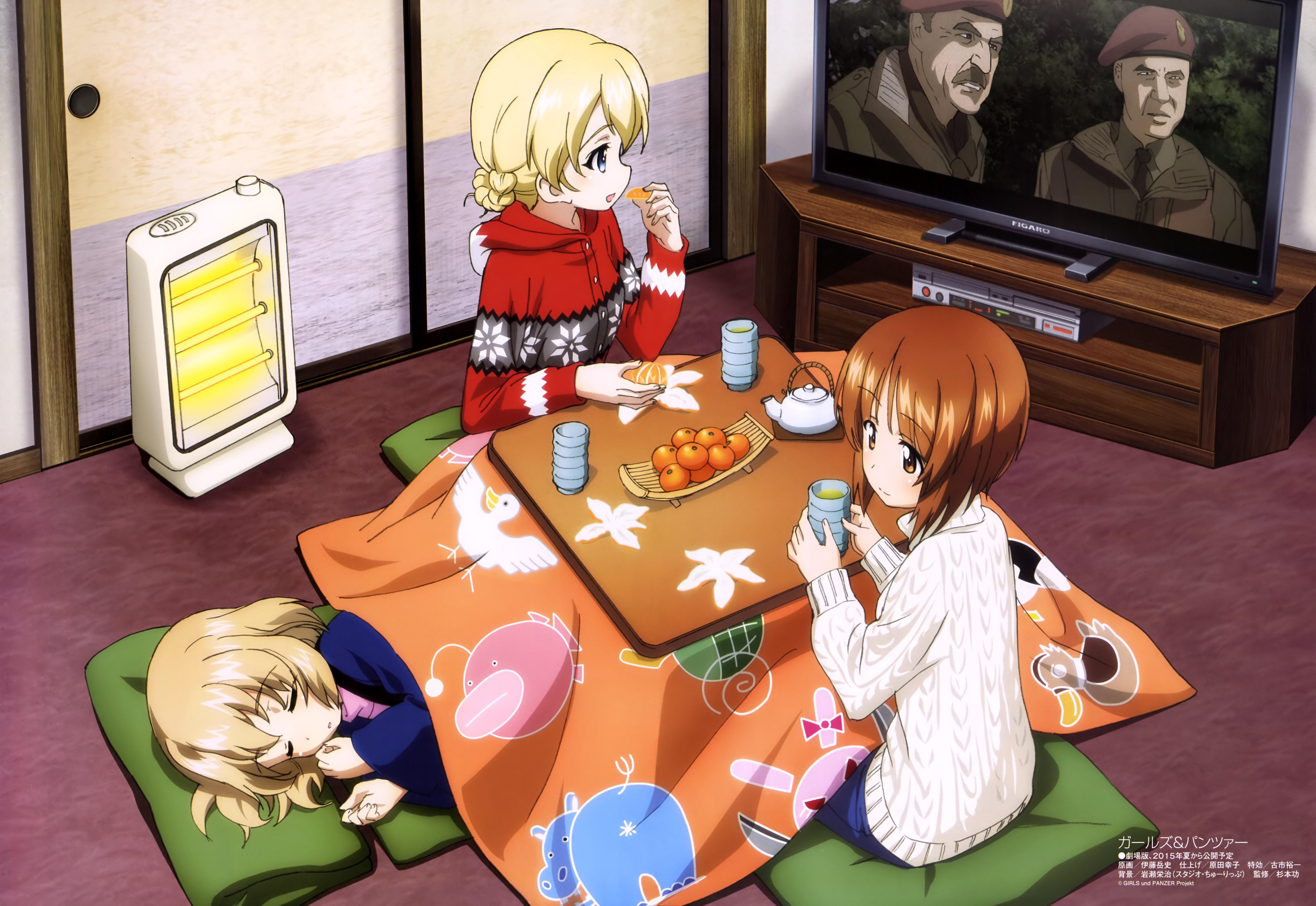 Girls und Panzer poster Haruhichan.com Megami MAGAZINE February 2015 anime posters