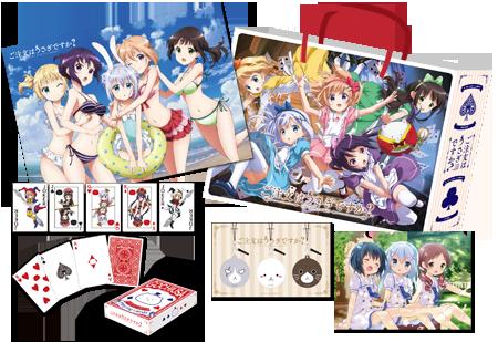 Gochuumon wa Usagi Desu ka Is the order a rabbit anime bag set earphone jack set playing cards a3 poster and clear file