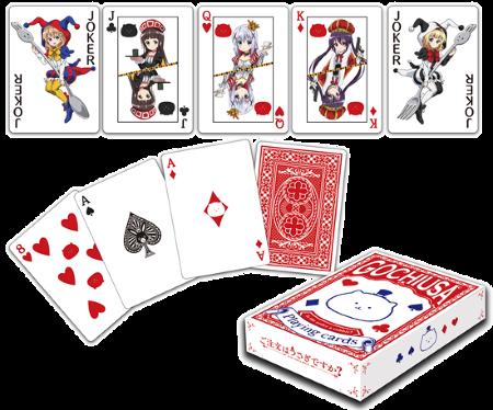 Gochuumon wa Usagi Desu ka Is the order a rabbit anime playing cards