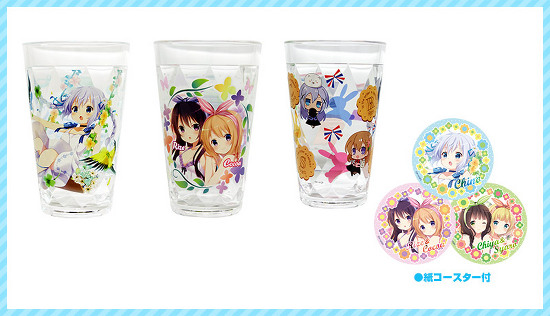 Gochuumon wa Usagi desu ka Comiket 88 Goods Previewed Acrylic glass set