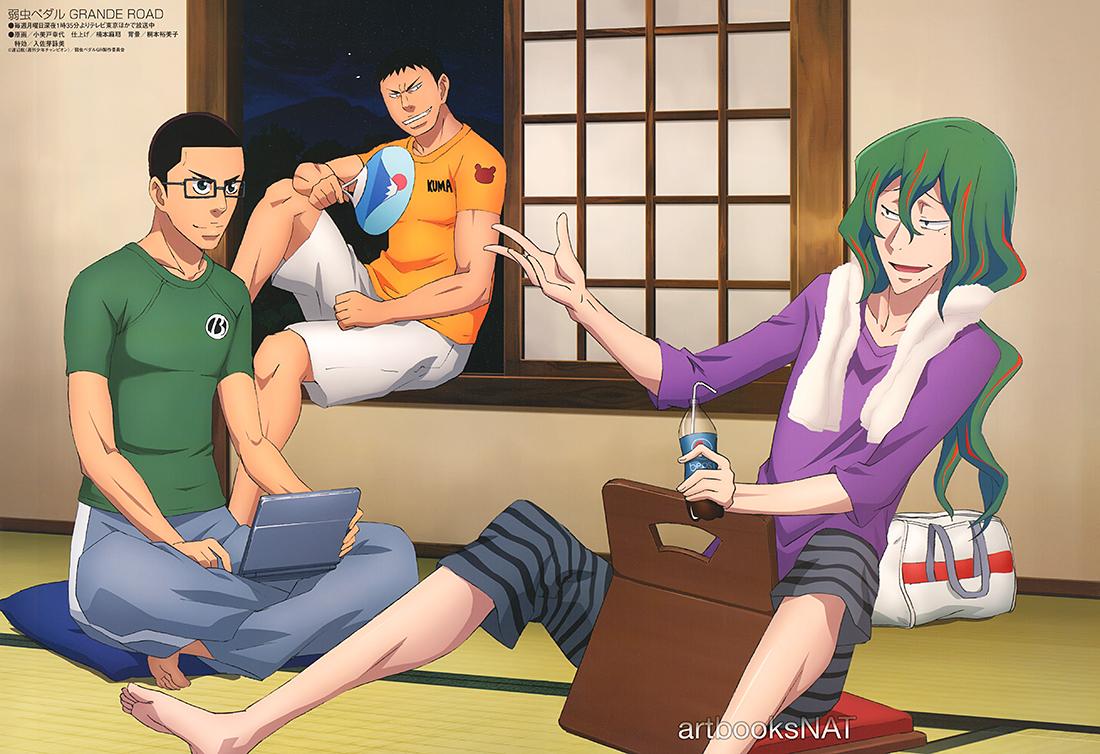Haruhichan.com Animedia November 2014 posters Yowamushi Pedal Grande Road anime poster Yowamushi Pedal 2nd Season Yowamushi Pedal 2