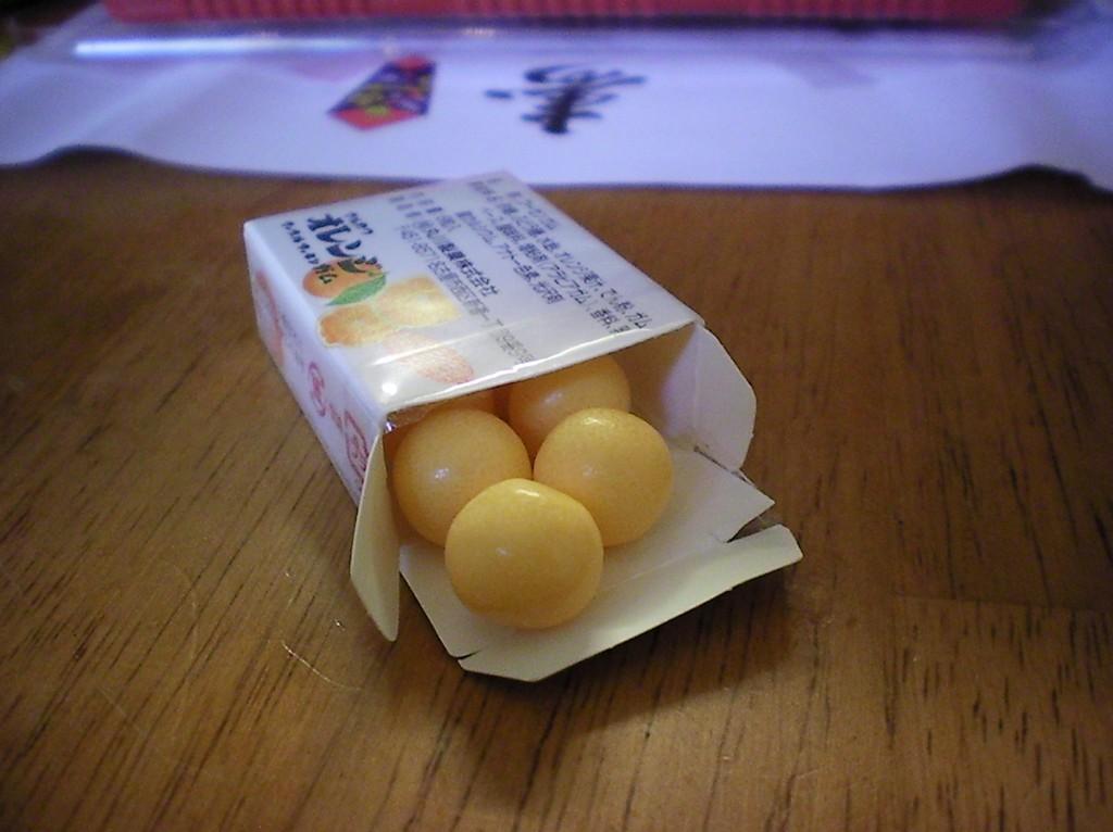 Haruhichan.com Jlist.com Dagashi Bento Pack Orange Bubble Gum 2