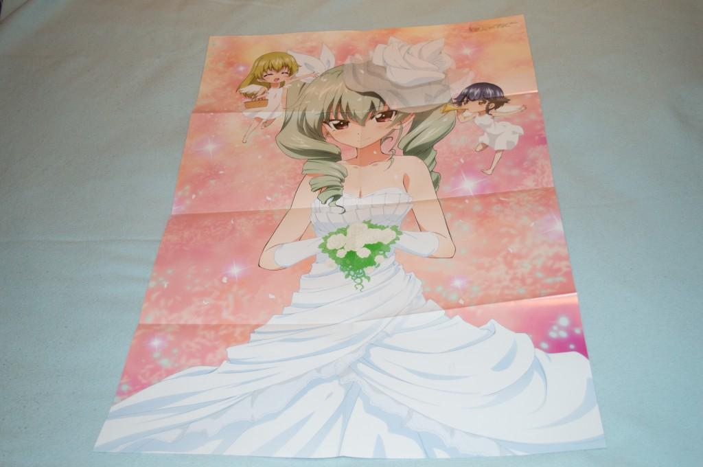 Haruhichan.com Megami MAGAZINE July 2014 posters anchovy carpaccio chibi dress girls_und_panzer pepperoni wedding_dress yoshida_nobuyoshi 2