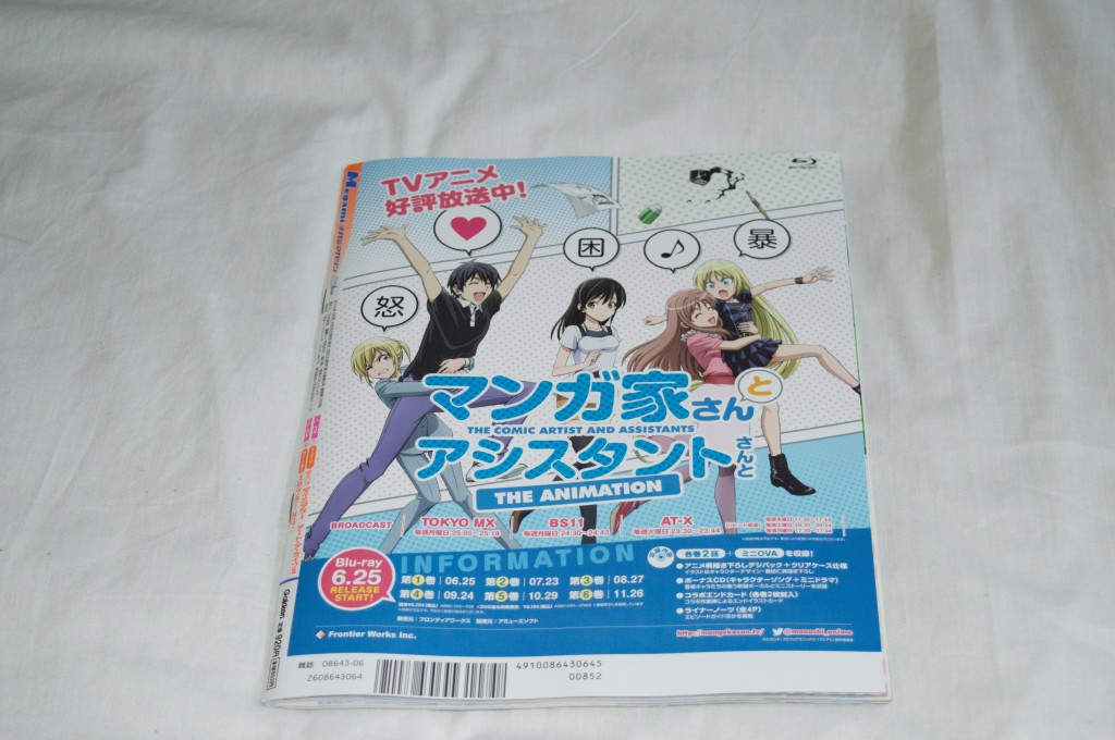Haruhichan.com Megami MAGAZINE June 2014 posters back