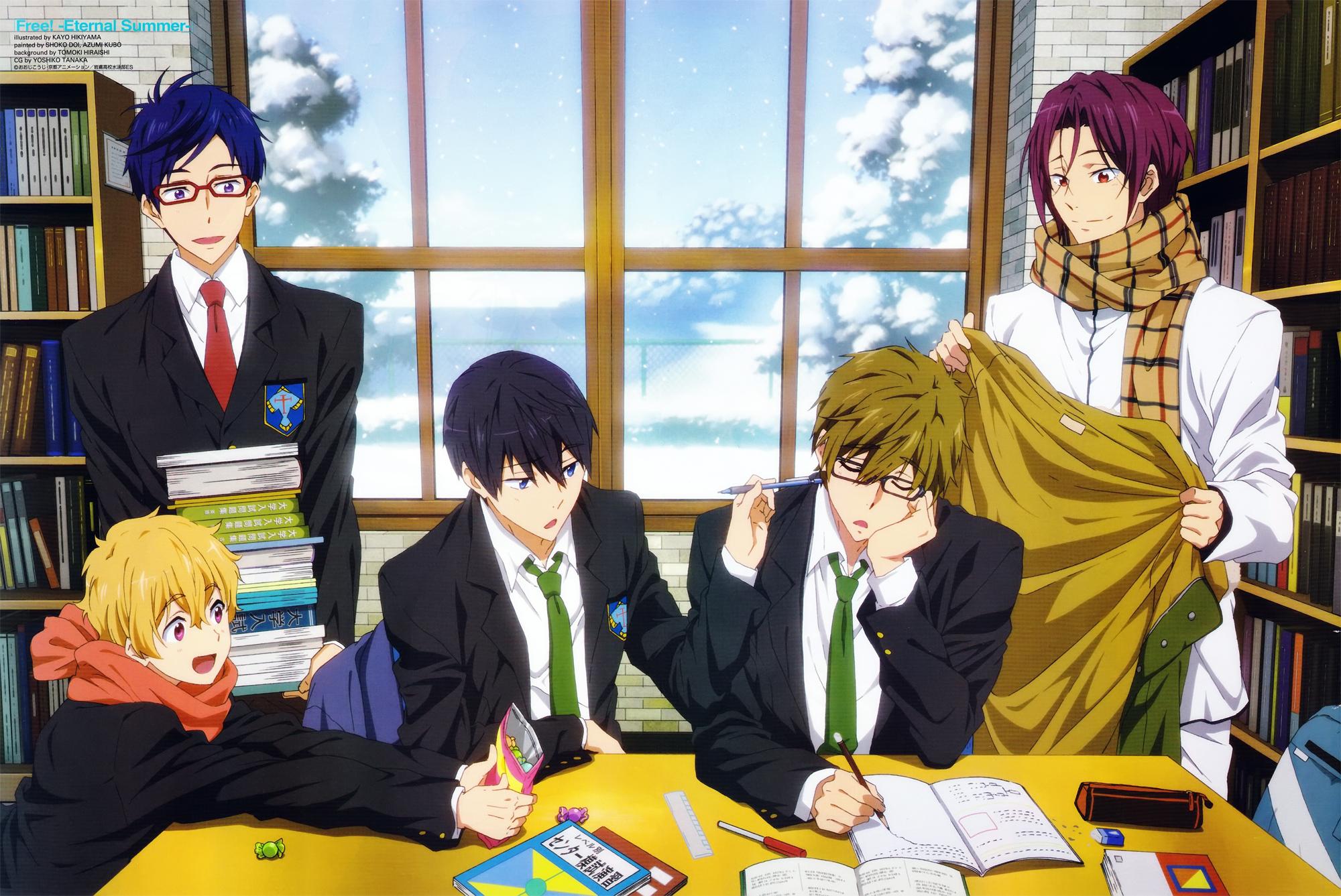 Haruhichan.com Newtype January 2015 posters free eternal summer