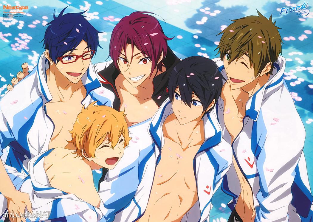 Haruhichan.com Newtype November 2014 posters Free! Eternal Summer anime
