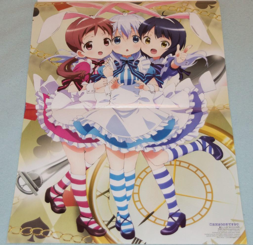 Haruhichan.com Newtype magazine July 2014 posters gochuumon_wa_usagi_desu_ka  heels joukawa_maya kafuu_chino natsu_megumi yamada_yukei 2