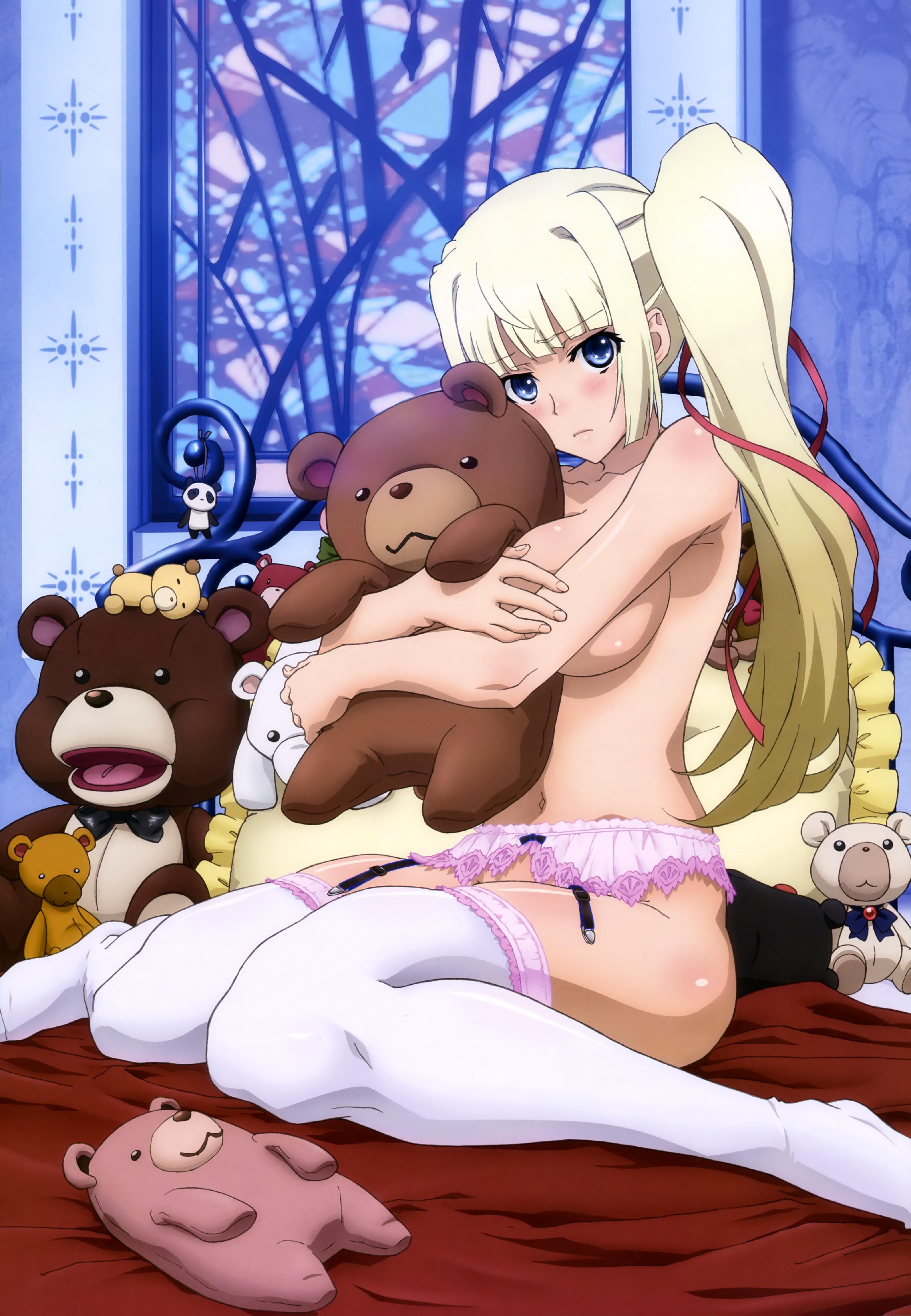 Haruhichan.com NyanType Magazine January 2015 anime posters garter_belt limlisha madan_no_ou_to_vanadis naked stockings thighhighs