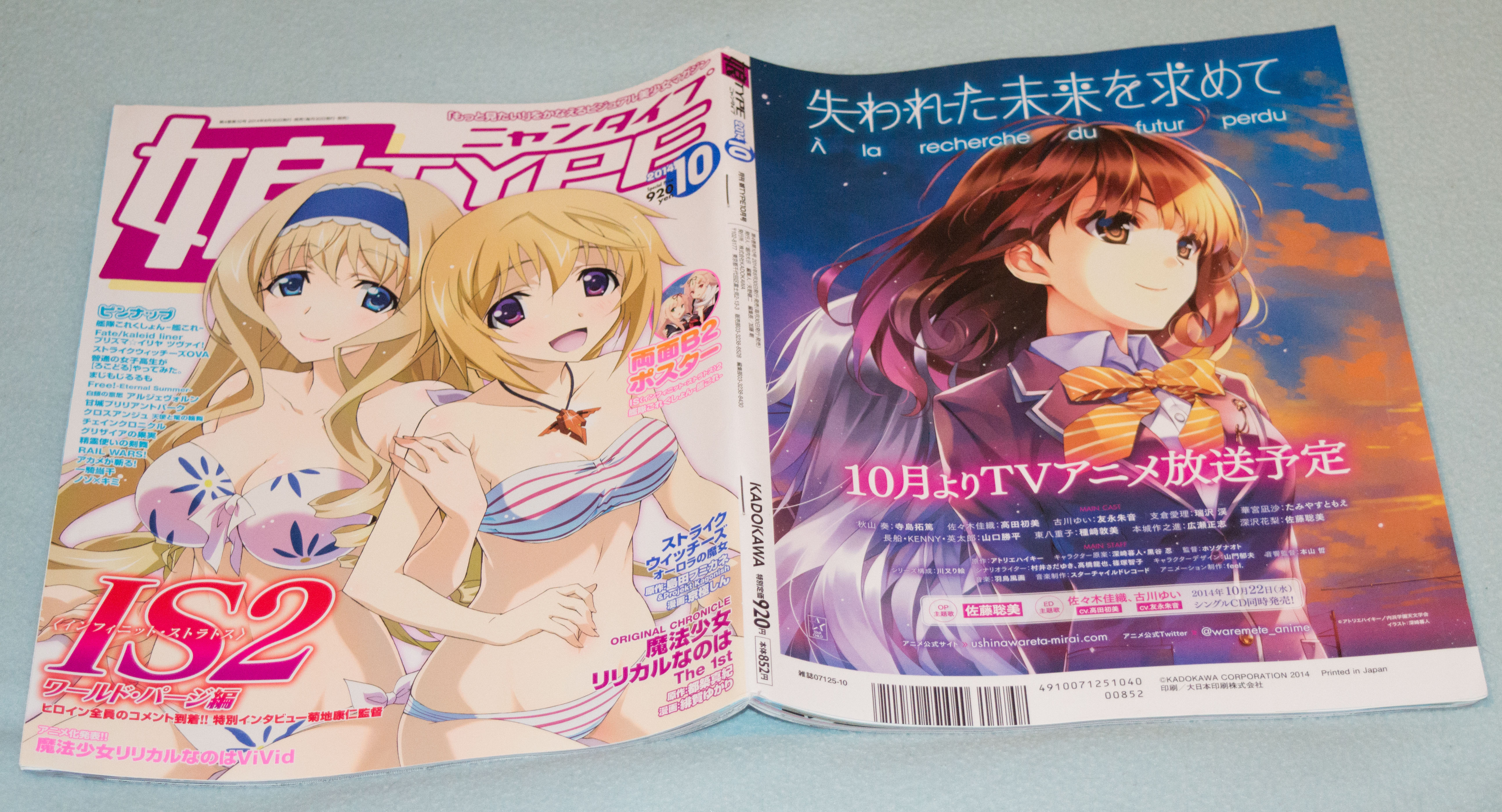 Haruhichan.com NyanType October 2014 Cover and Back