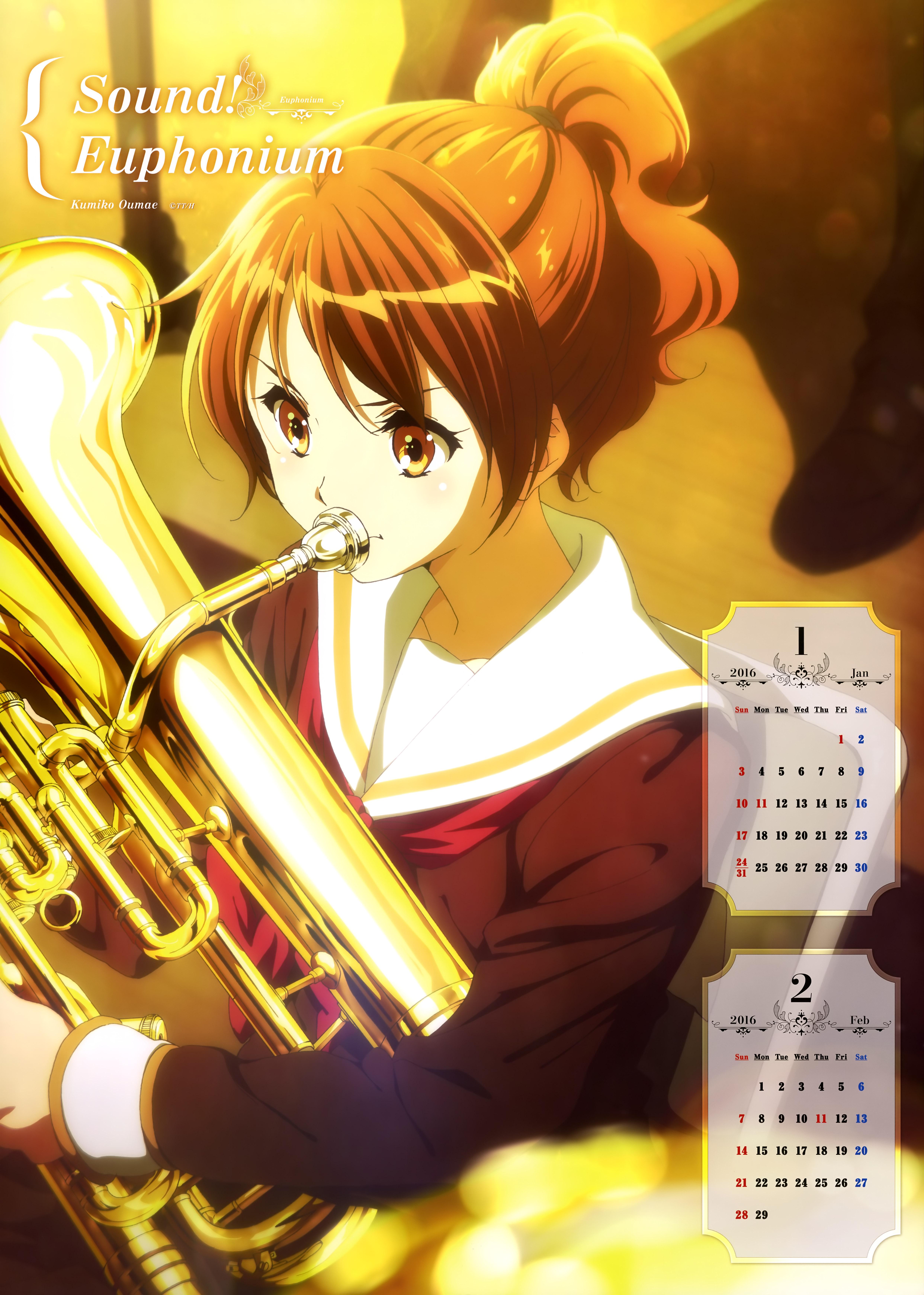 Hibike! Euphonium Anime calendar 2016 0001