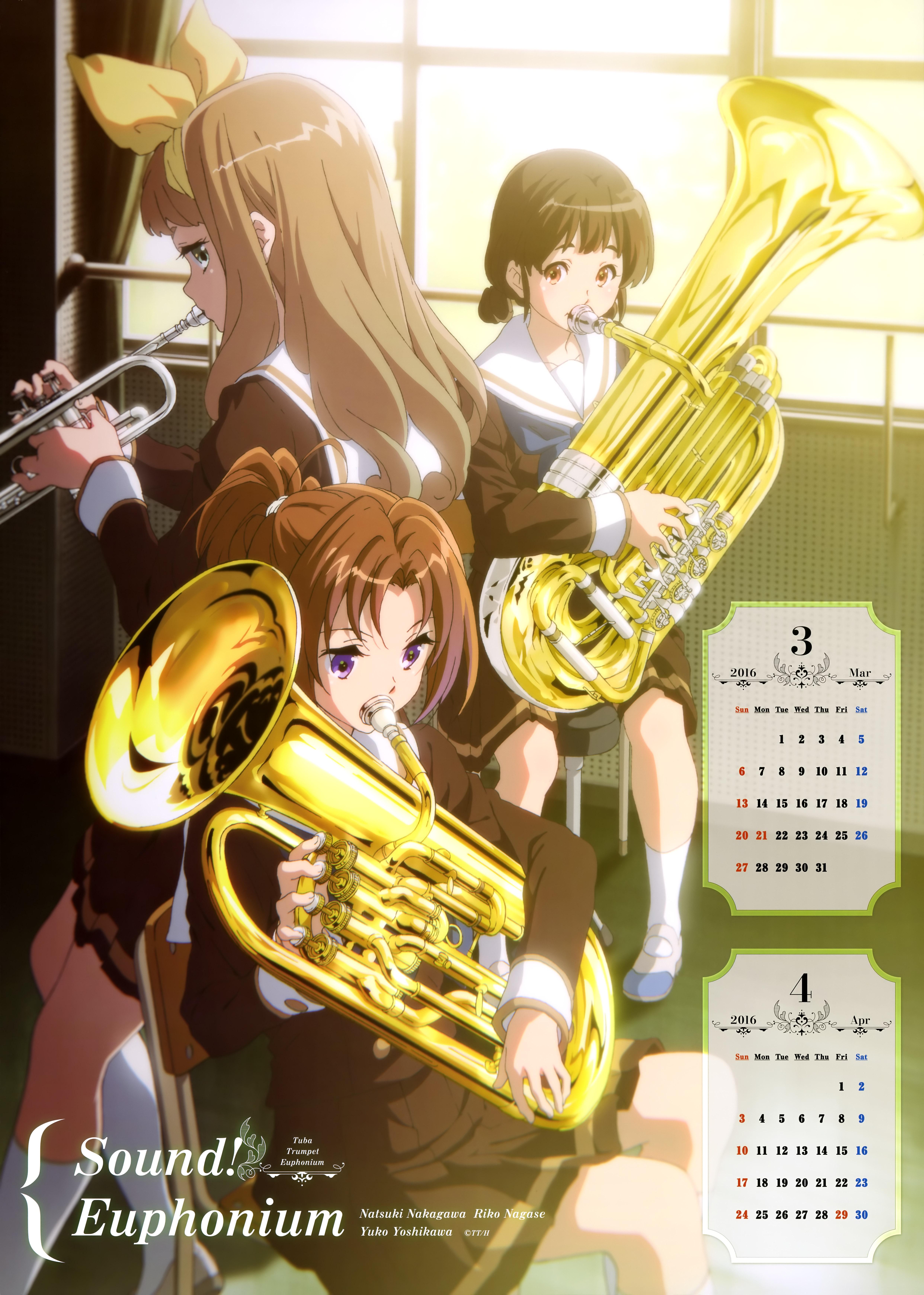 Hibike! Euphonium Anime calendar 2016 0002