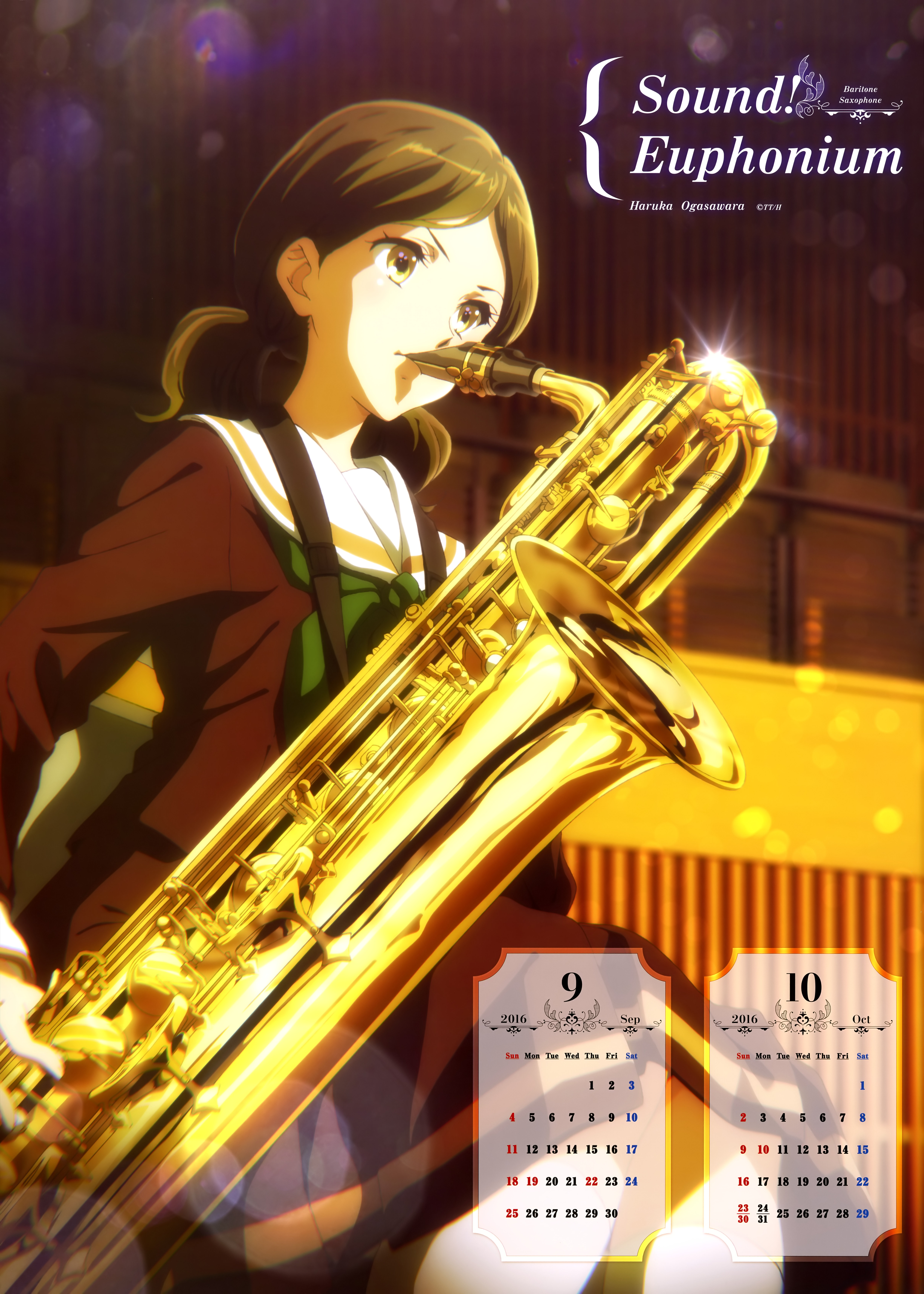 Hibike! Euphonium Anime calendar 2016 0005