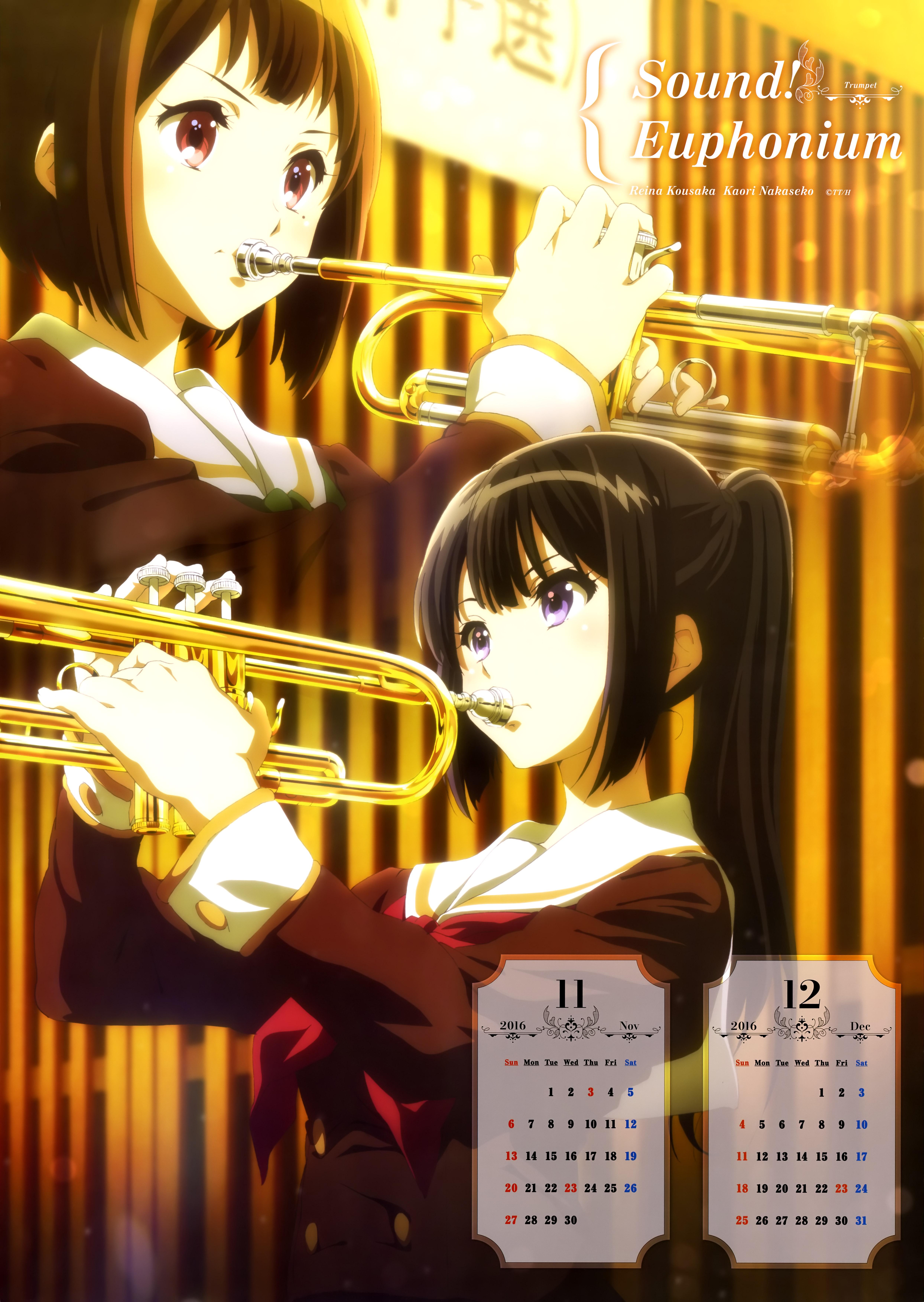 Hibike! Euphonium Anime calendar 2016 0006