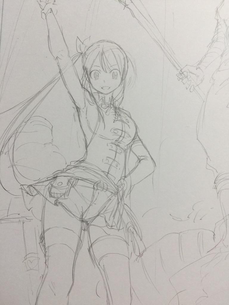 Hiro Mashima Fairy Tail Sketch 1