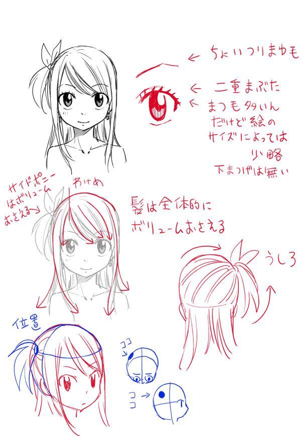 Hiro Mashima Sketches a Female Version of Natsu Dragneel 7