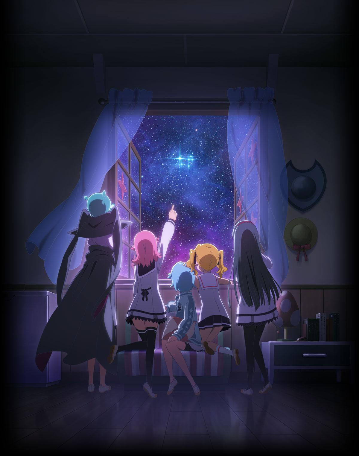 Houkago no Pleiades anime key visual haruhichan.com wish upon the pleiades key visual