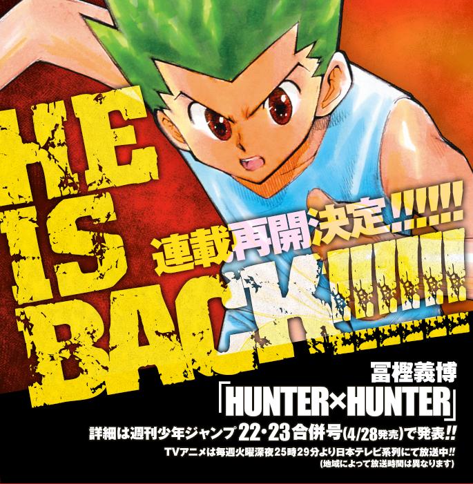 Hunter x Hunter Manga Returns! img