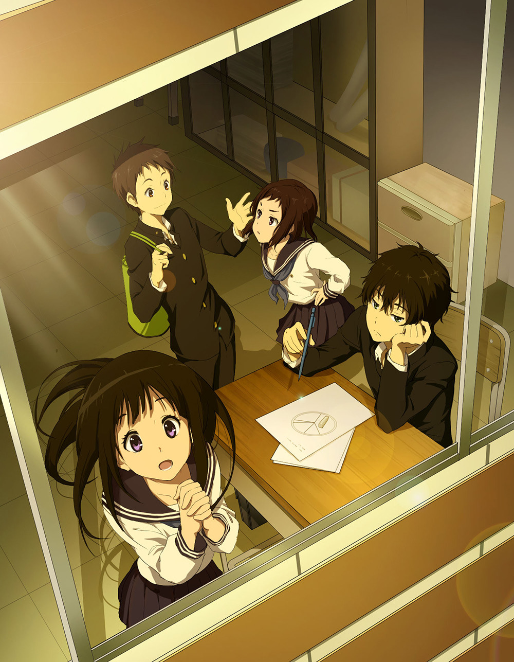Hyouka anime visual