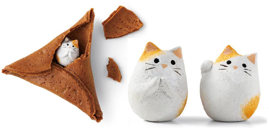 Japan Serves up Feline Fortune Cookies for Cat Lovers Everywhere