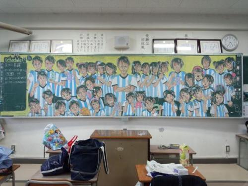 Japan Takes Drawing on a Chalkboard to a New Level haruhichan.com Real life events chalkboard 4