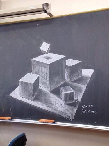 Japan Takes Drawing on a Chalkboard to a New Level haruhichan.com Real life events chalkboard 5