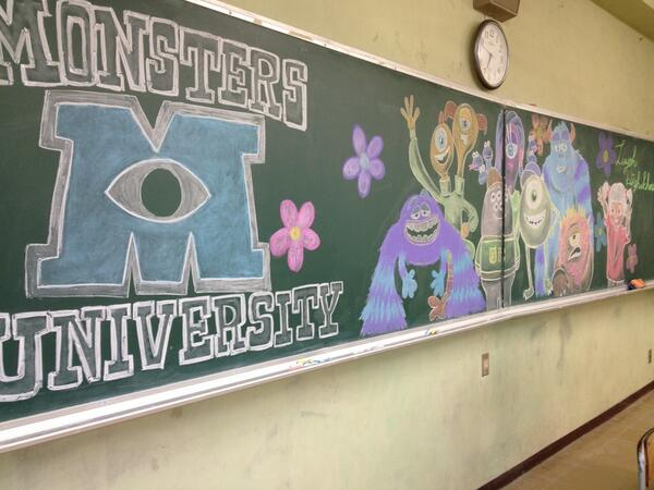 Japan Takes Drawing on a Chalkboard to a New Level haruhichan.com disney monster