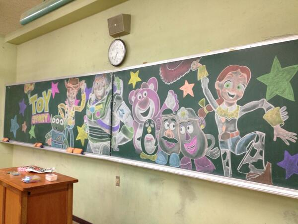 Japan Takes Drawing on a Chalkboard to a New Level haruhichan.com disney