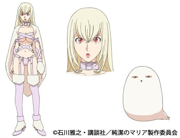 Junketsu no Maria anime character design Artemis Maria the Virgin Witch  haruhichan.com winter 2015 anime season