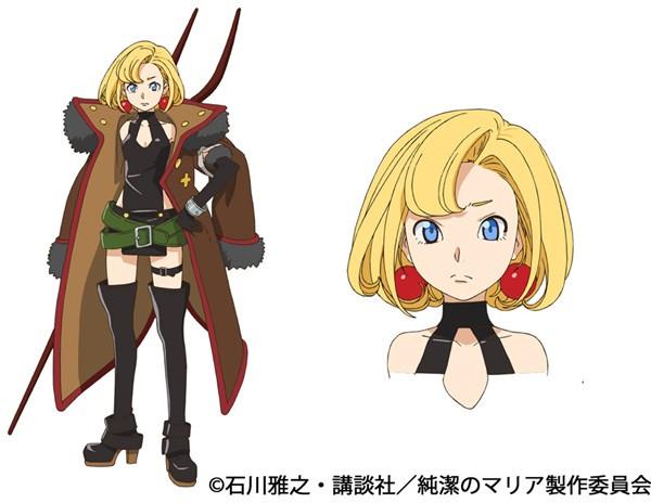 Junketsu no Maria anime character design Maria Maria the Virgin Witch  haruhichan.com winter 2015 anime season