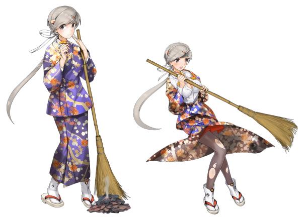 KanColle Browser Game Introduces Fall Yukata Art 5
