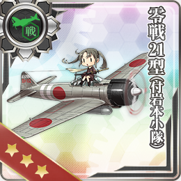 KanColle Browser Game Introduces Halloween CG Zero Fighter Model 21 Iwamoto Squad
