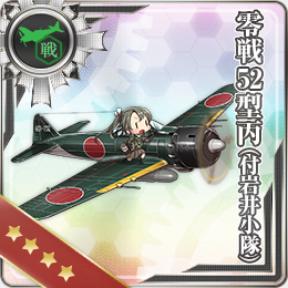 KanColle Browser Game Introduces Halloween CG Zero Fighter Model 52C Iwai Squad