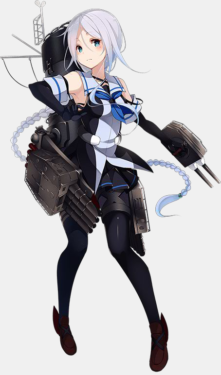 KanColle Browser Game Wraps up the Summer Event Shiratsuyu Class Destroyer Umikaze (designed by Kujou Ichiso)