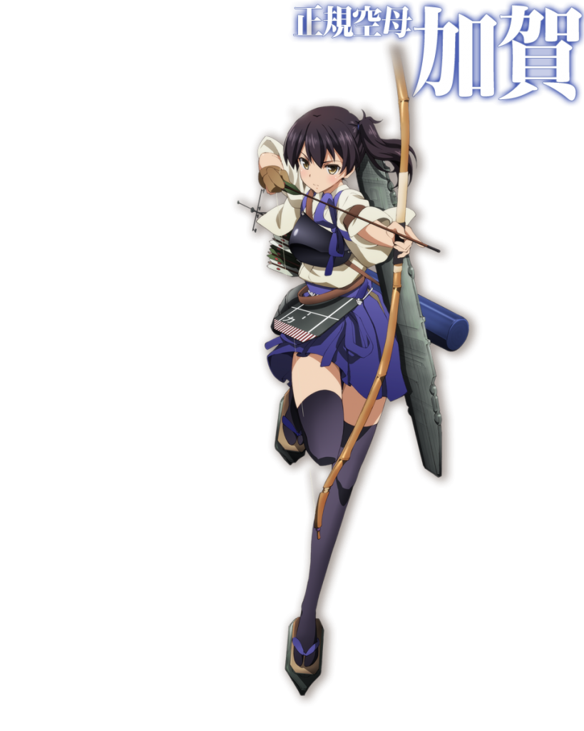 Kantai Collection Anime Scheduled for Winter 2015 Kancolle anime character design Seiki Kuubo Kaga Kaga-Class Aircraft Carrier haruhichan.com 正規空母加賀