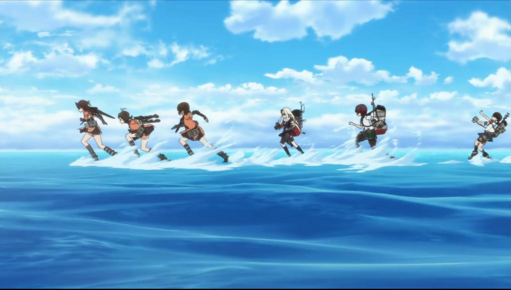The Third Torpedo Squadron with Fubuki stumbling along behind.