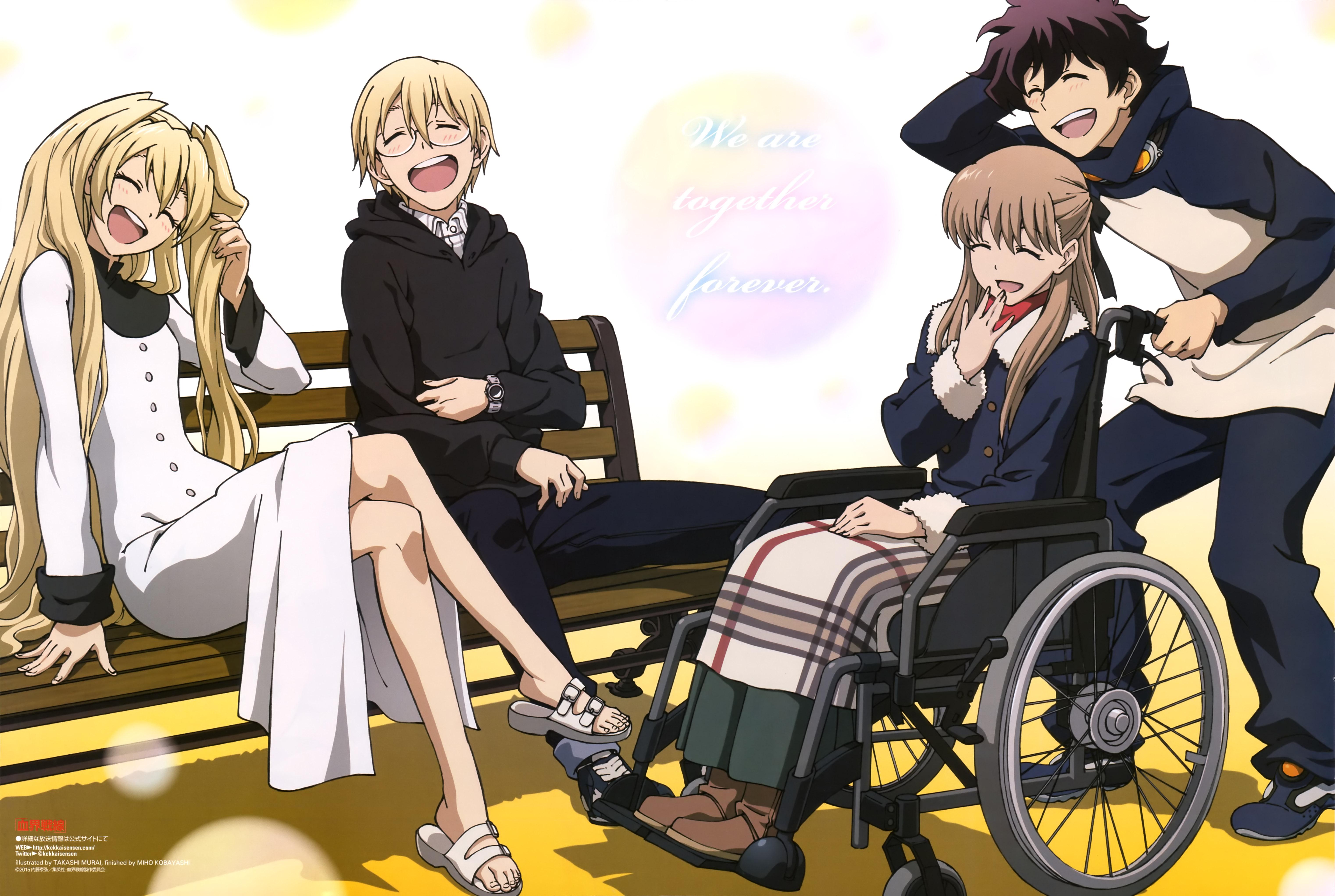 Kekkai Sensen anime poster newtype august