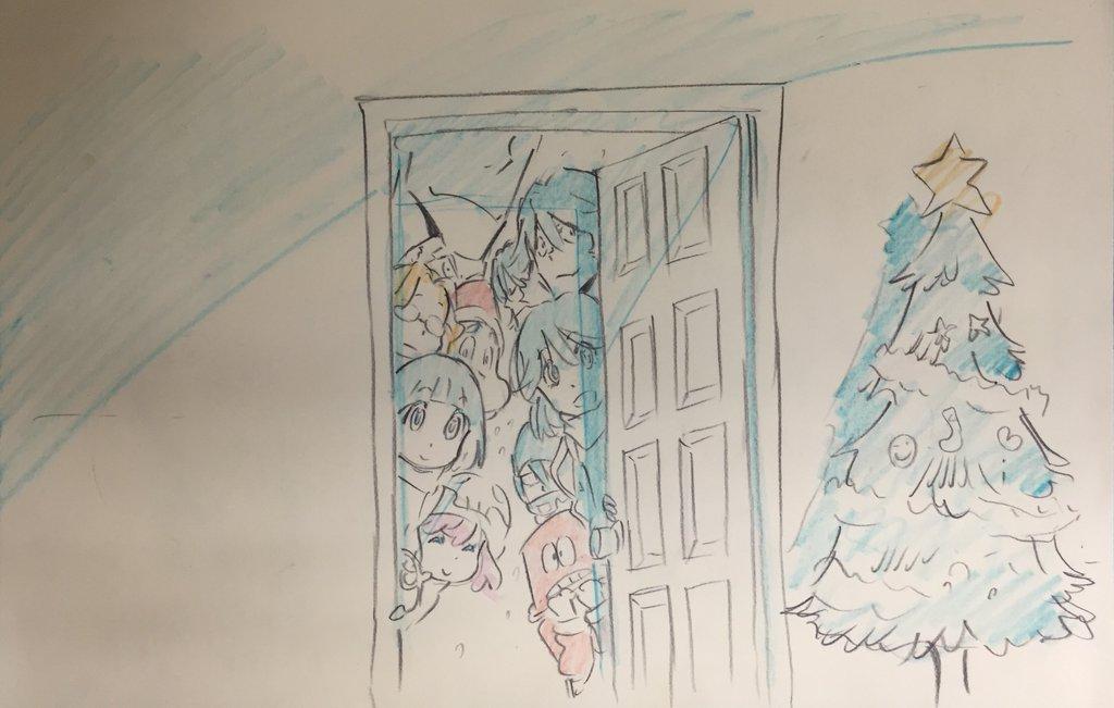 Kill La Kill Character Designer Sushio shares christmas sketches 11