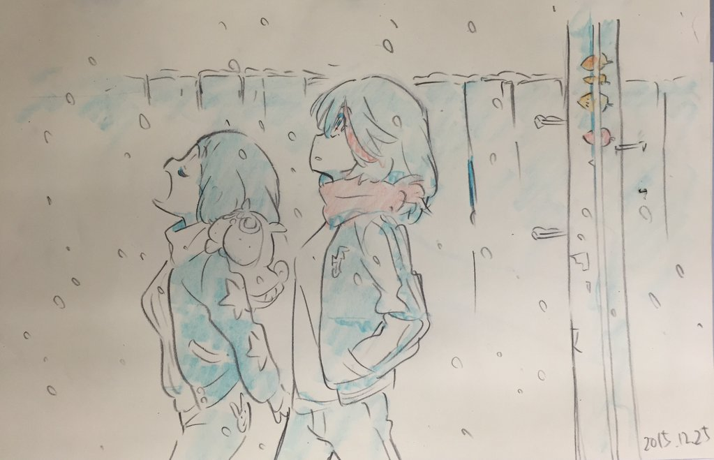 Kill La Kill Character Designer Sushio shares christmas sketches 2