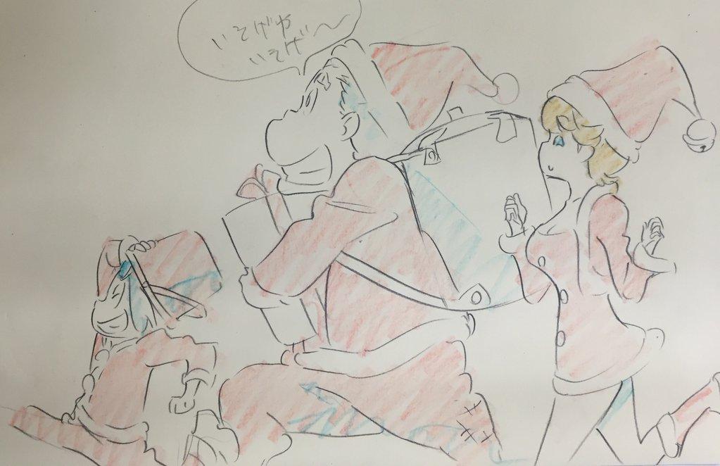 Kill La Kill Character Designer Sushio shares christmas sketches 8