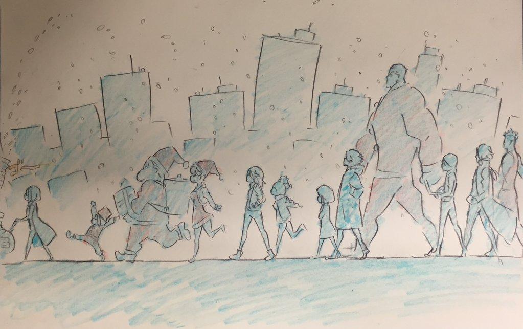 Kill La Kill Character Designer Sushio shares christmas sketches 9