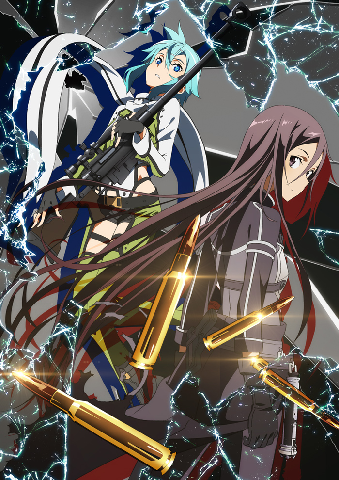 Kirito and Sinon Sword Art Online Gungale Online Phantom Bullet Arc