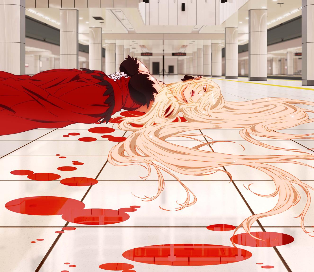 Kizumonogatari kiss shot visual
