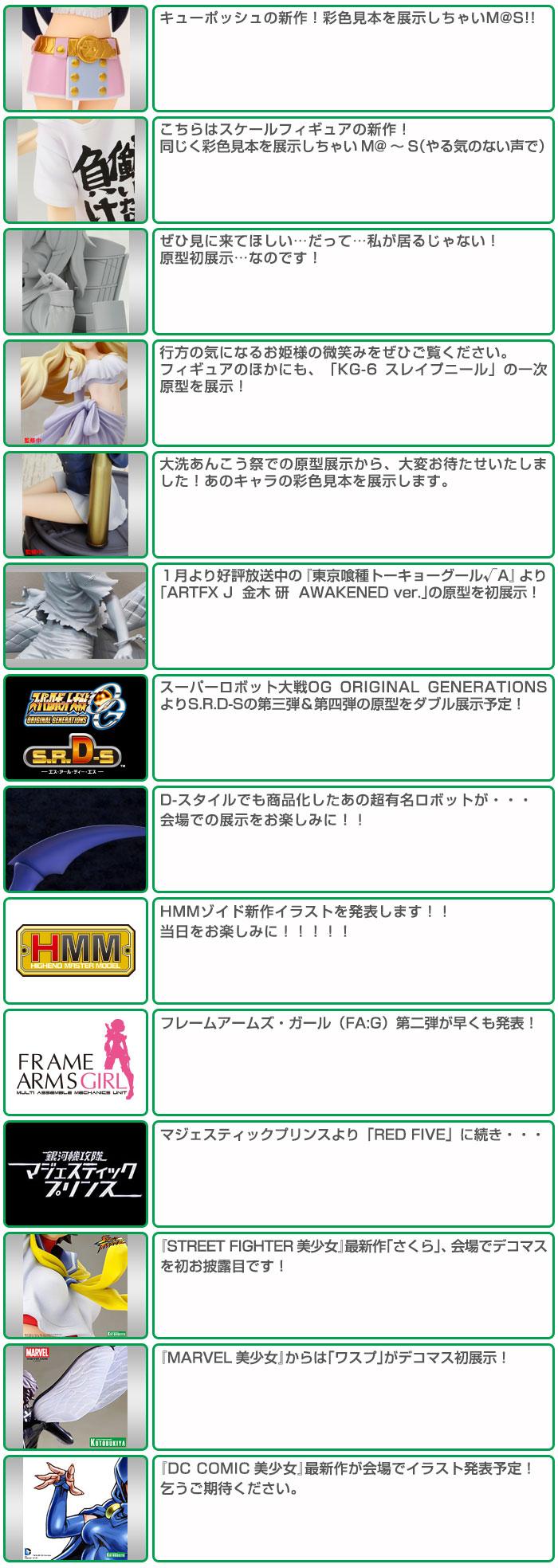 Kotobukiya Teases Fans with Wonder Festival 2015 Winter Previews haruhichan wonfes 2015 winter anime figures