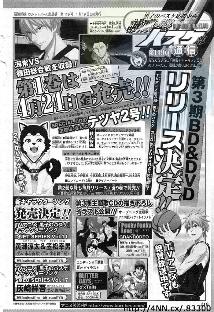 Kuroko no Basket 3rd Season-Episode-Count-Image