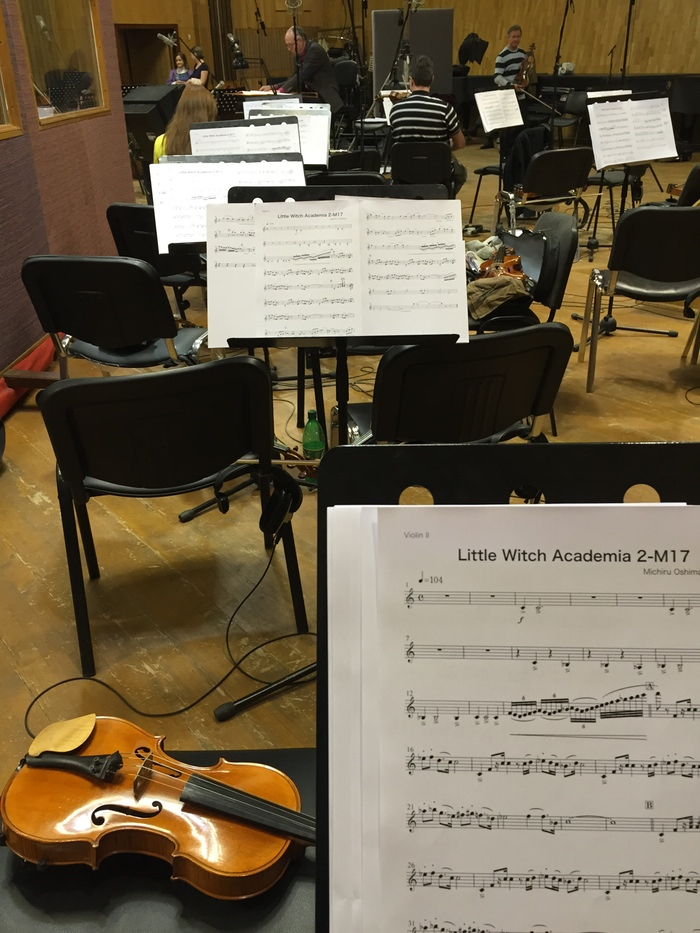 Little Witch Academia 2 BGM recording session 3