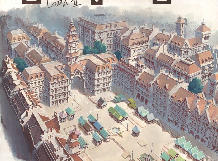 Little Witch Academia 2 background illustration