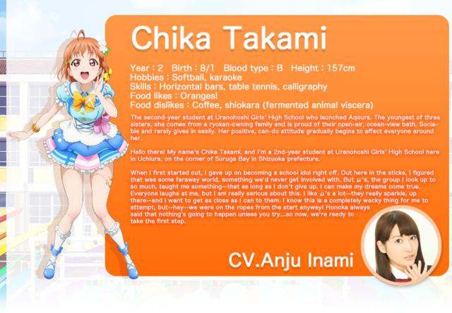 Love Live! Sunshine!! Chika Takami