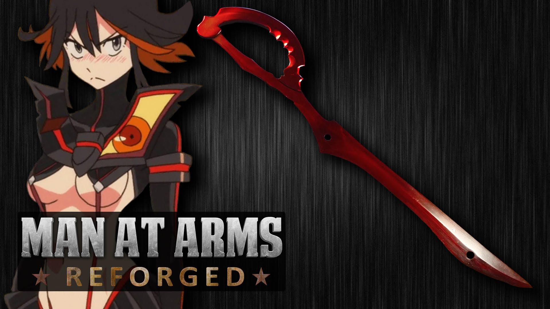 Man at Arms Blacksmiths Recreate Ryuuko Matoi's Scissor Blade Haruhichan.com kill la kill klk ryuuko matoi scissor blade