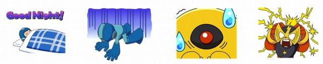 Mega Man Rockman LINE Stickers Released 3