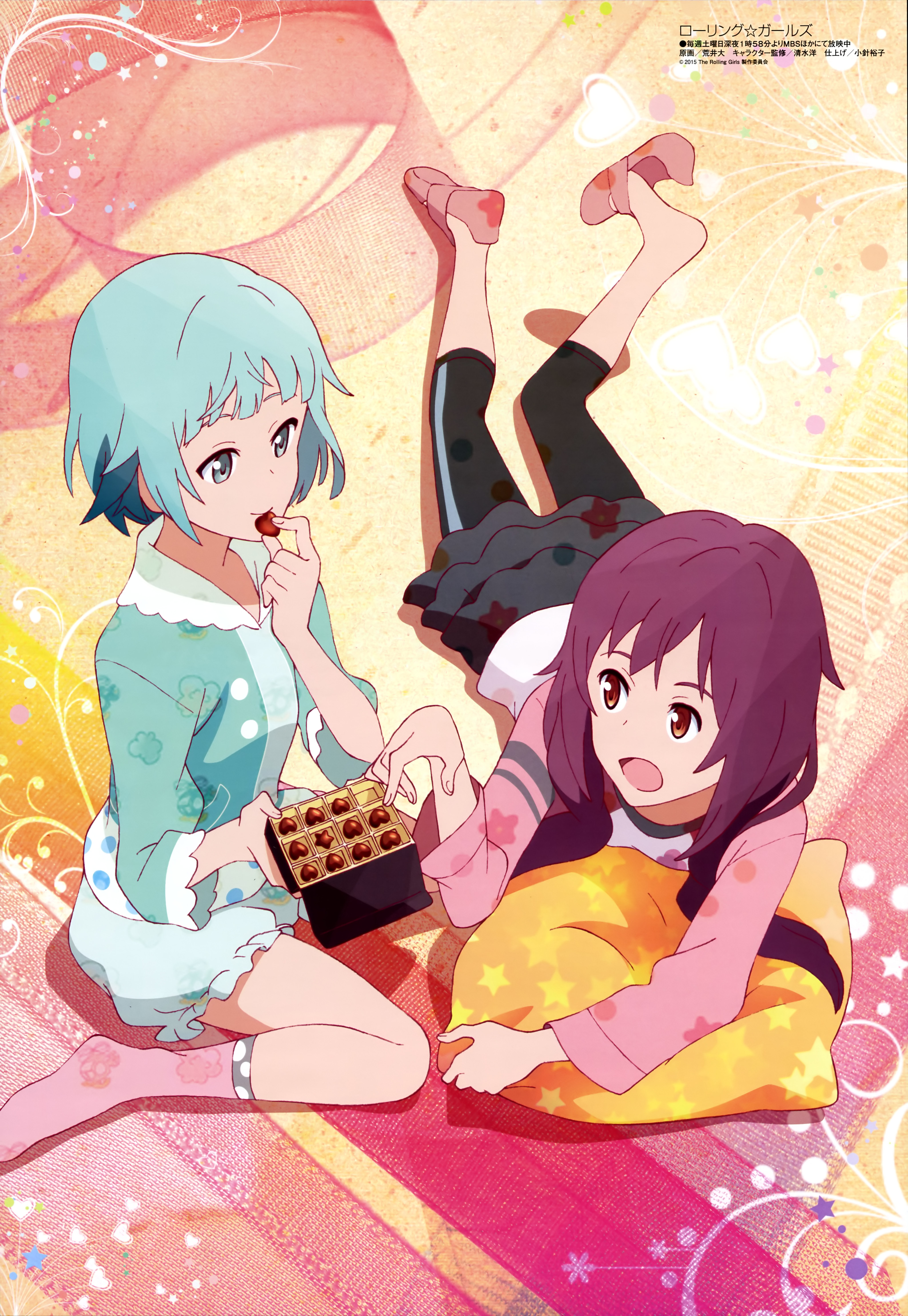 Megami MAGAZINE April 2015 anime posters Haruhichan.com The Rolling Girls